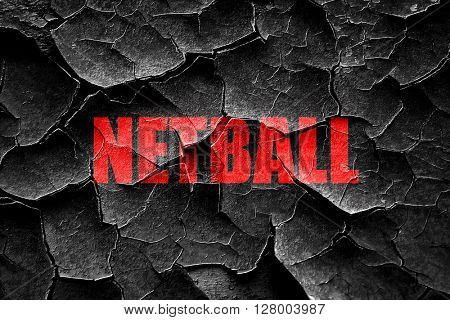 Grunge cracked netball sign background