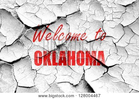 Grunge cracked Welcome to oklahoma