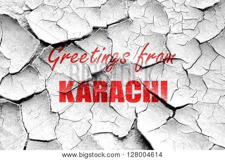 Grunge cracked Greetings from karachi