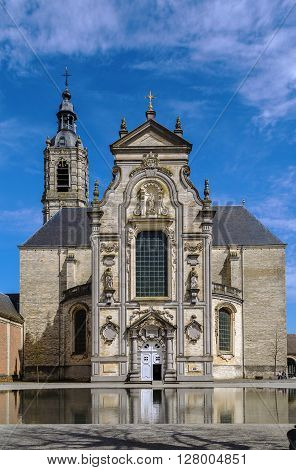 Baroque church in Averbode Abbey finished in 1672 Belgium