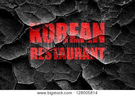 Grunge cracked Delicious korean cuisine