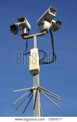 Two Cctv Street Security Cameras