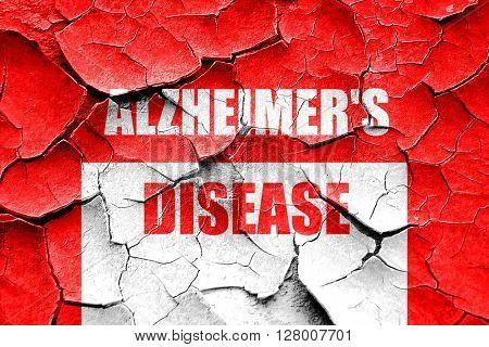 Grunge cracked Alzheimer's disease background