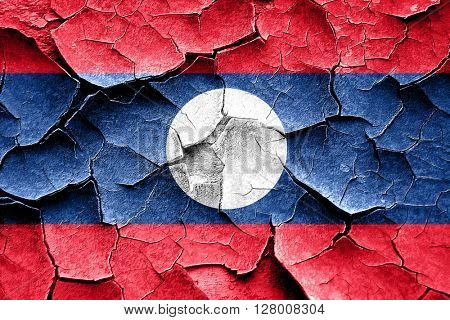 Grunge Laos flas with some cracks and vintage look