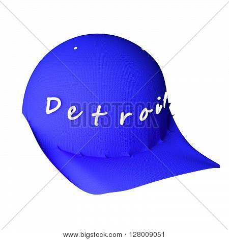 Baseball Hat With Words Detroit