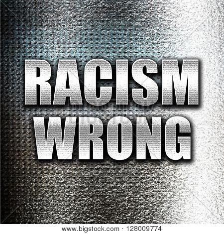 racism wrong