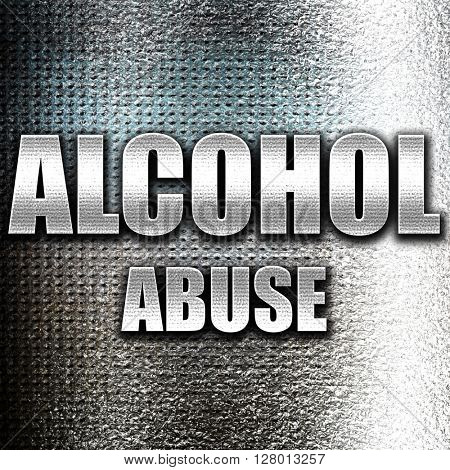 Alcohol abuse sign