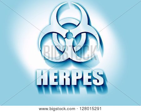 Herpes virus concept background