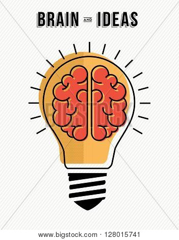Concept Of Brain And Ideas Innovation In Business