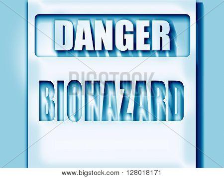 Biohazard sign background