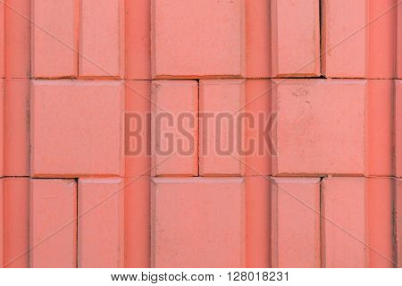 Red Brick Wall Texture Abstract For Background