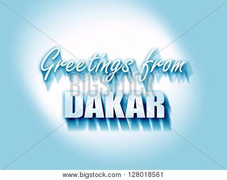 Greetings from dakar