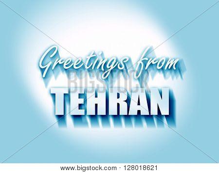 Greetings from tehran