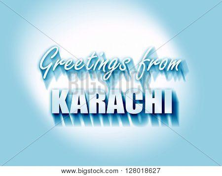 Greetings from karachi