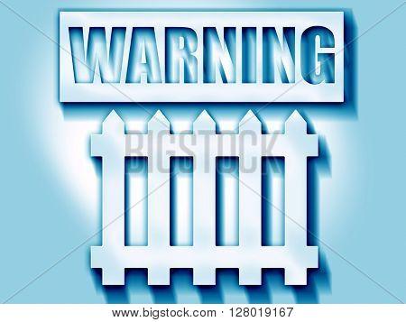 Railway warning sign
