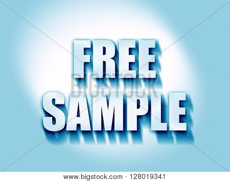 free sample sign