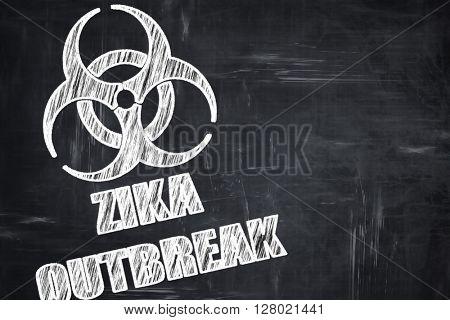 Chalkboard writing: Zika virus concept background