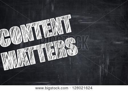 Chalkboard writing: content matters