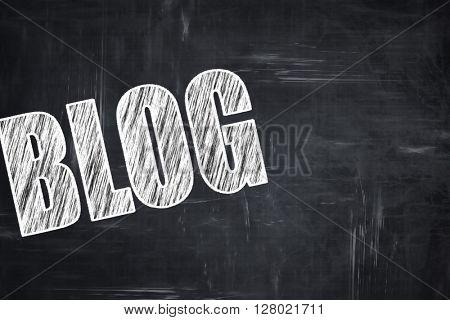 Chalkboard writing: blog