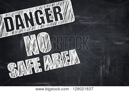 Chalkboard writing: apocalypse danger background