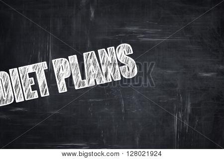 Chalkboard writing: diet plans