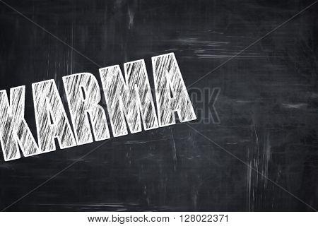Chalkboard writing: karma
