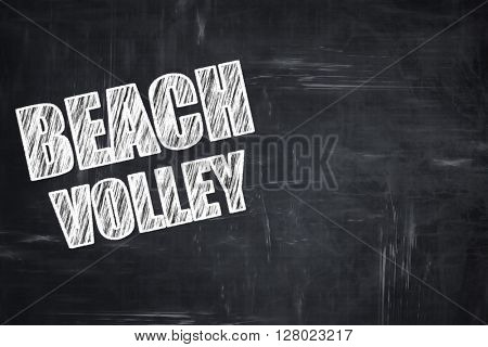 Chalkboard writing: beach volley sign
