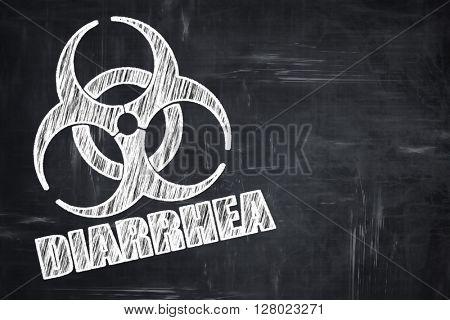 Chalkboard writing: Diarrhea concept background