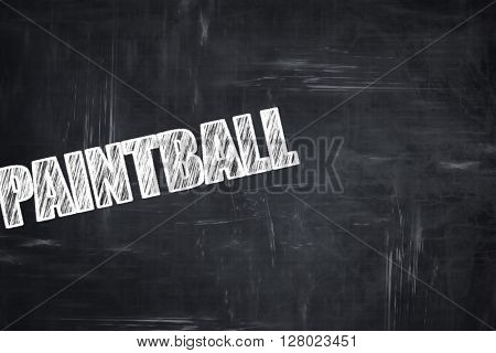 Chalkboard writing: paintball sign background