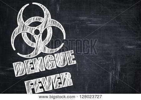 Chalkboard writing: Dengue fever concept background