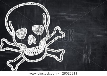Chalkboard writing: Poison sign background