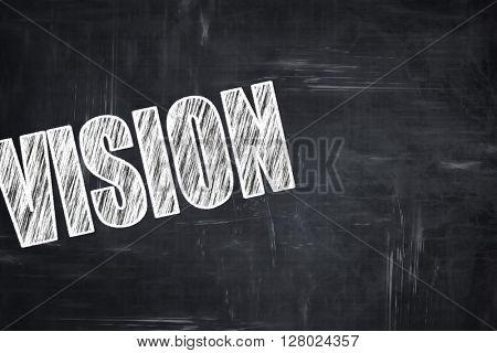 Chalkboard writing: vision