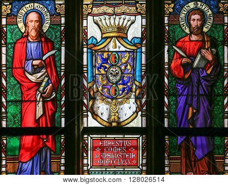 Stained Glass - Saint Matthew And Saint Bartholomew