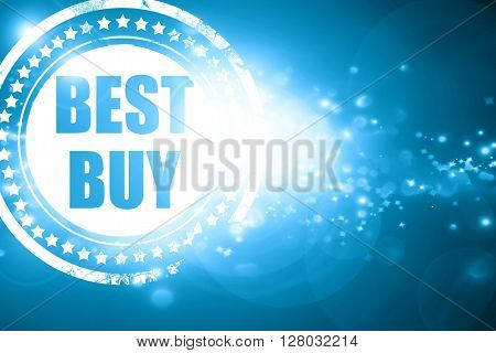 Blue stamp on a glittering background: best buy sign