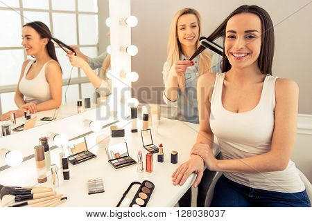 Beautiful Girl Doing Makeup