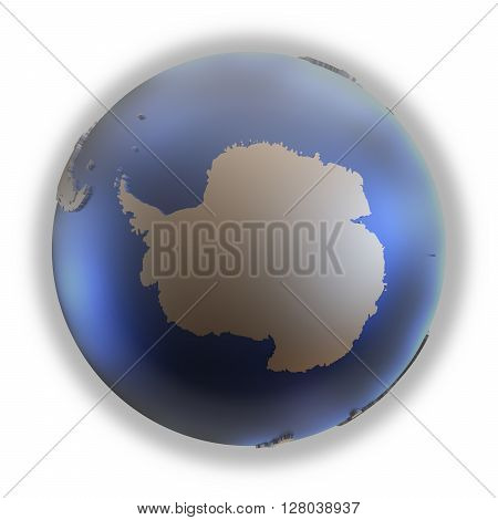 Antarctica On Golden Metallic Earth