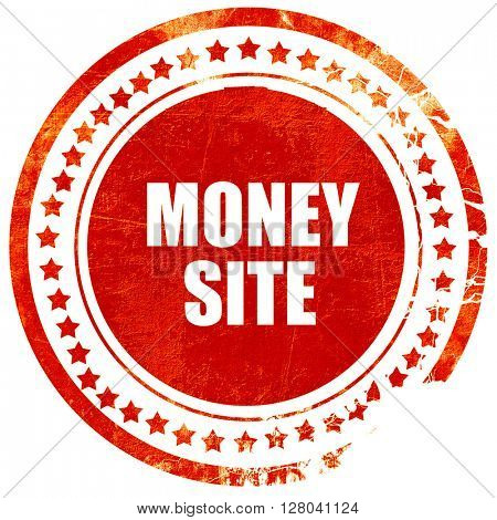 money site, grunge red rubber stamp on a solid white background