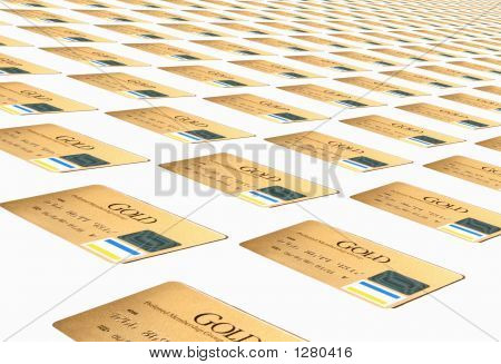 Gold Credit Cards Background