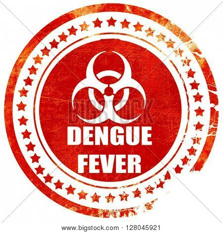 Dengue fever concept background, grunge red rubber stamp on a so