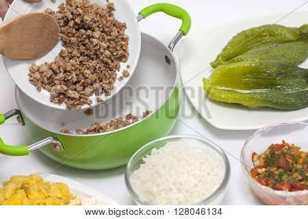 Stuffing cucumbers preparation : stuffing cucumbers filling mix preparation