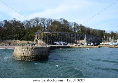 A view into the harbour at Dysart in Fife