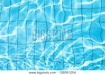 Blue Wavy Water Background In Swimming Pool