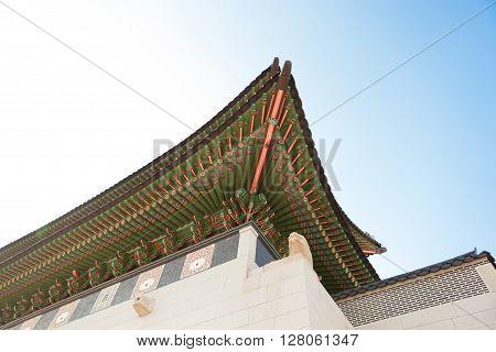 Gyeongbokgung Palace Gate At Day Time - Seoul, Republic Of Korea
