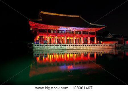 Gyeonghoeru Royal Banquet Hall At Night - Gyeongbokgung Palace, Seoul, Republic Of Korea