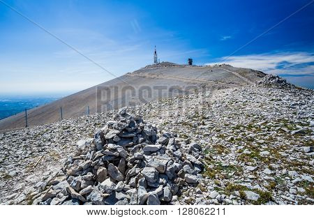 the summit of Mount Ventoux, from Bedoin, Vaucluse, France