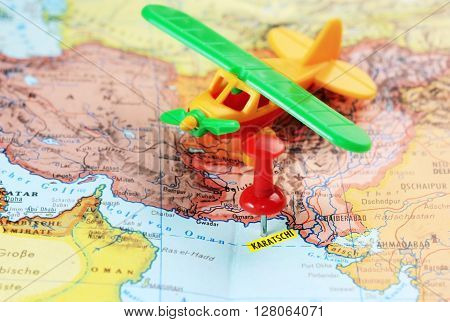 Karachi Pakistan Map Pin Airport