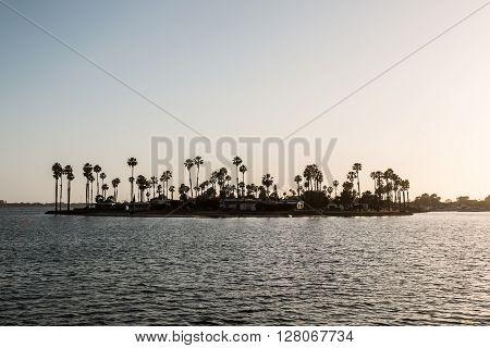 De Anza Cove at Mission Bay Park in San Diego, California.