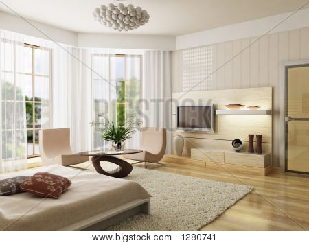 Render Interior dormitorio