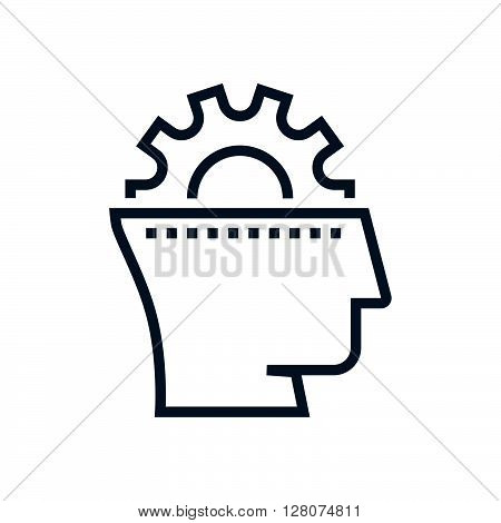 Gear, Head, Brain Storming Icon