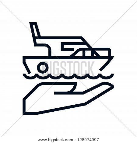 Ship, Sailboat Insurance Icon